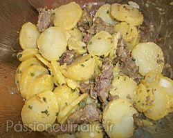Salade de pommes de terre au boeuf cuit - Duree cuisson cote de boeuf ...