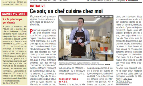 Article dans le journal Aix CityLocalNews